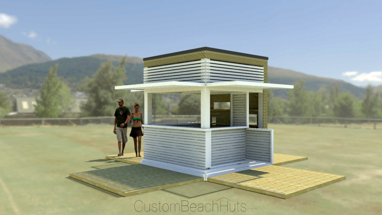 Modern beach hut design concept for 17th collins miami for Beach hut designs